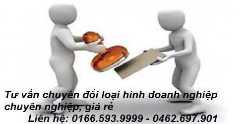 dịch vụ tư vấn chuyển đổi loại hình doanh nghiệp, công ty - 0166.593.9999